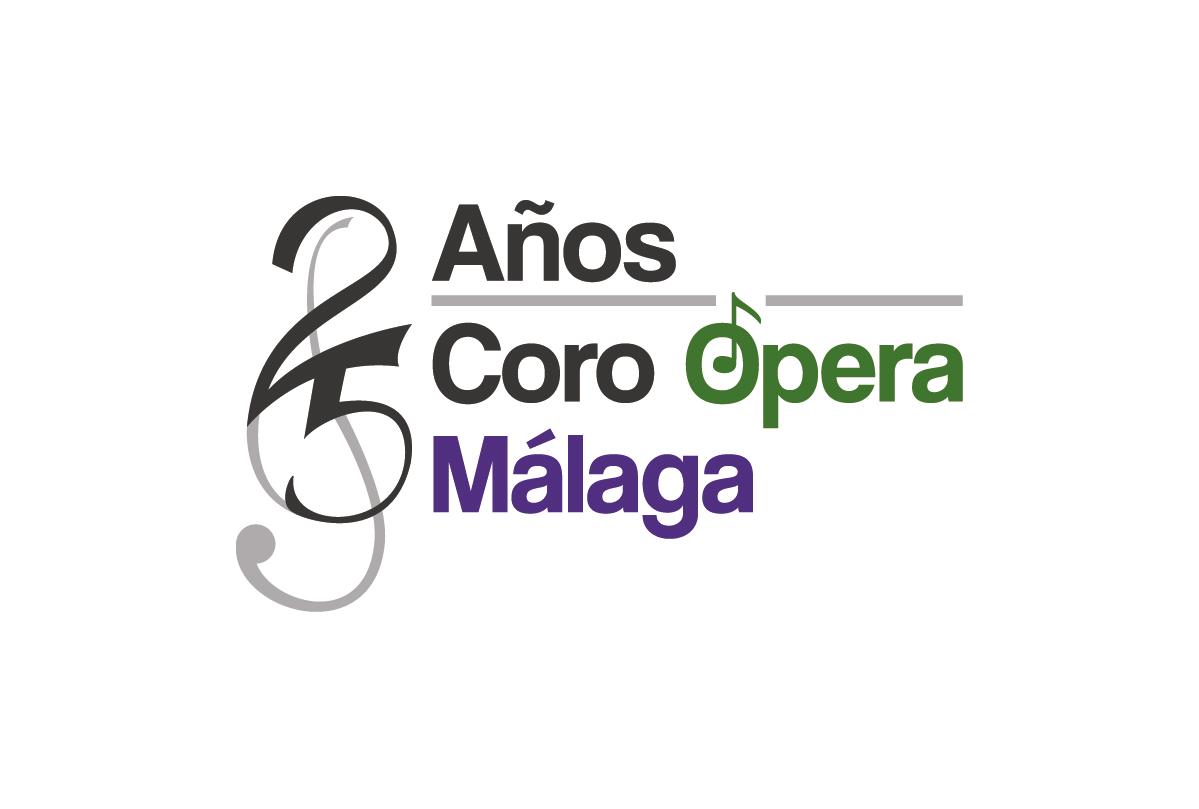 Logotipo 25 años Coro Ópera de Málaga