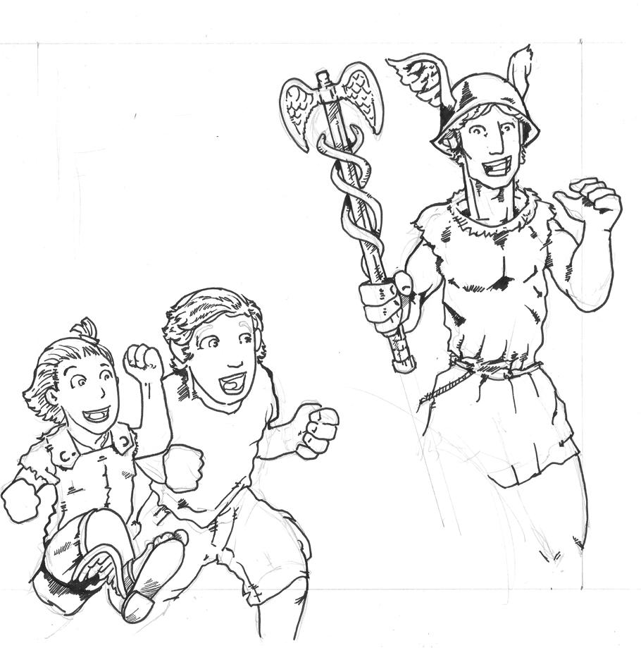 Tinta boceto Égida